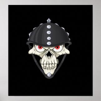 Biker Helmet Skull design for Motorcycle Riders Poster