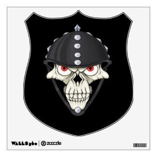 Biker Helmet Skull design for Motorcycle Riders Wall Graphics