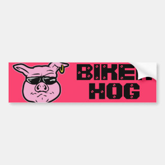 Biker Hog Bumper Sticker