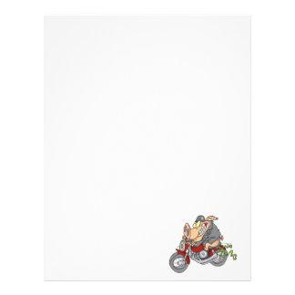biker hog pig motorcycle bike cartoon letterhead