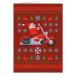 Biker Holiday Sweater Tees Greeting Card