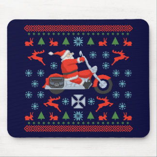 Biker Holiday Sweater Tees Mouse Pad