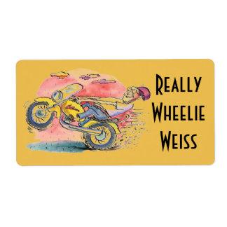 Biker Homebrew Beer Really Wheelie Weiss Labels