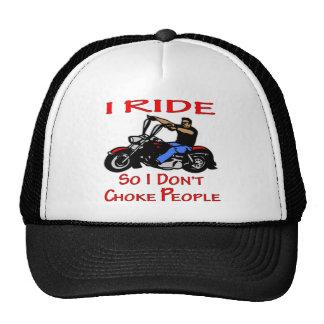 Biker I Ride So I Don't Choke People Trucker Hat