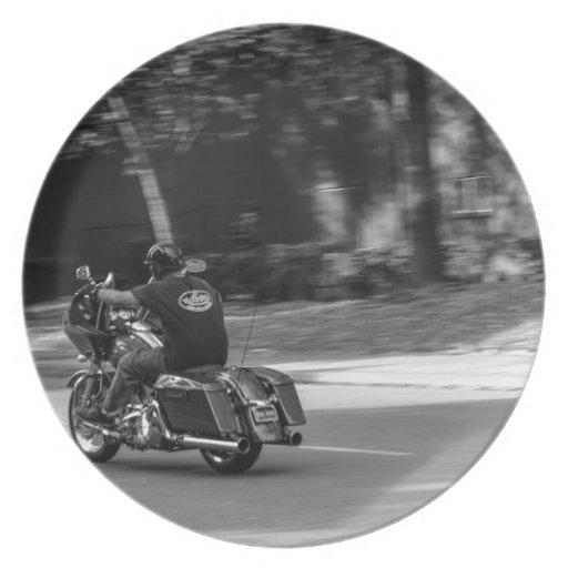 Biker in Motion Plates