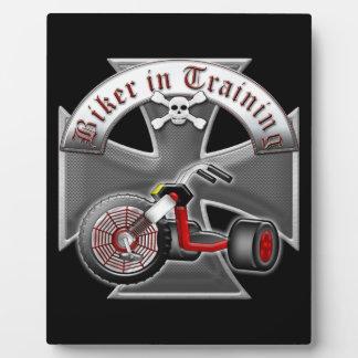 Biker in Training Plaque