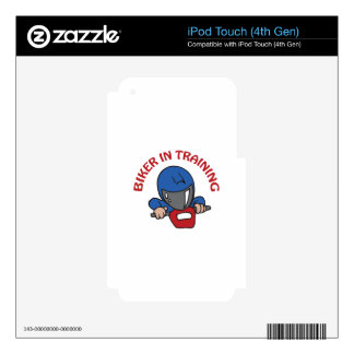 BIKER IN TRAINING DECAL FOR iPod TOUCH 4G
