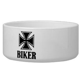 Biker iron cross bowl