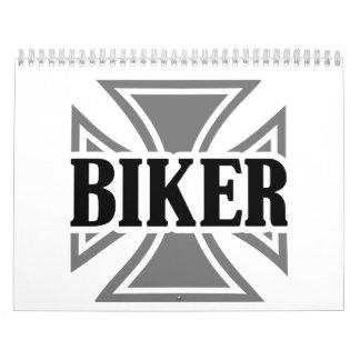 Biker iron cross calendar