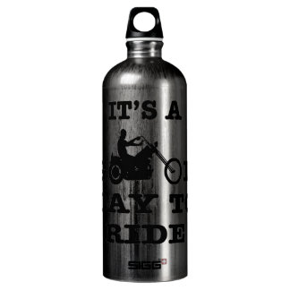 Biker It's A Good Day To Ride Aluminum Water Bottle
