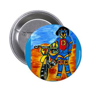 Biker Joanne Pinback Button