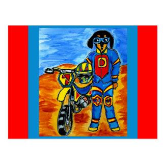 Biker Joanne Postcard