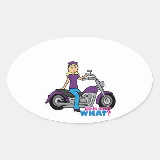 Biker - Light Oval Sticker