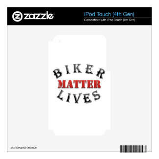 Biker Lives Matter Decal For iPod Touch 4G