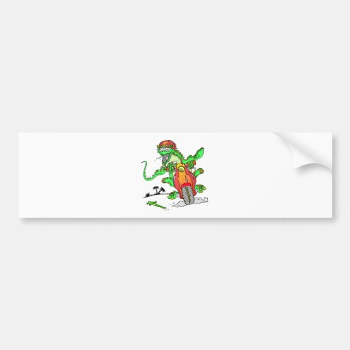 Biker Lizard Bumper Stickers