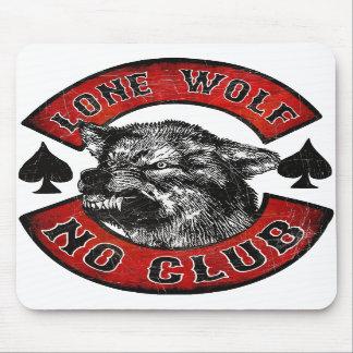 Biker lone wolf mousepad