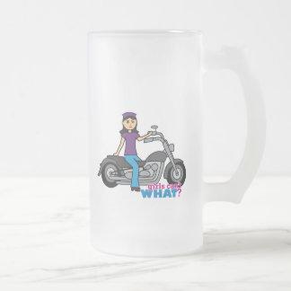 Biker - Medium Frosted Glass Beer Mug