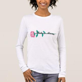 Biker Mom w/pinkrose 1 Long Sleeve T-Shirt