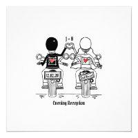 Biker Motorcycle Evening Wedding Invitation
