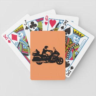 biker motorcycle moto goldwing bicycle playing cards