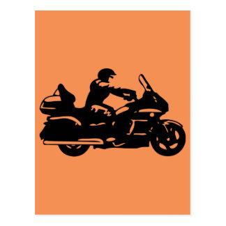 biker motorcycle moto goldwing postcard