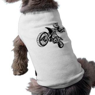 Biker Motorcycle Motocross Dog T Shirt