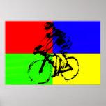 biker_multi_color poster