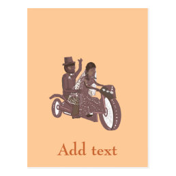 Biker or Motorcyclist Wedding Products Postcard