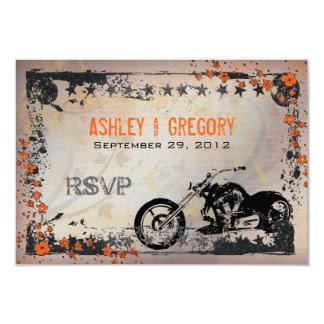 Biker or Motorcyle Wedding RSVP Response card Custom Announcements