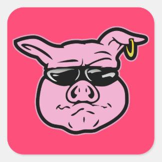 Biker Pig Sticker