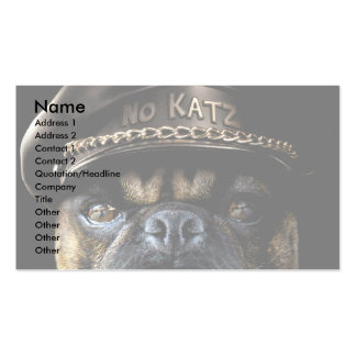 Biker Pug Double-Sided Standard Business Cards (Pack Of 100)