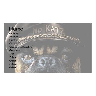 Biker Pug Business Card Templates