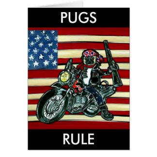 Biker Pug Card