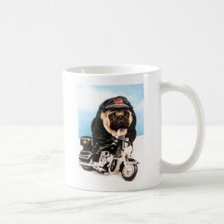 Biker Pug Dog Coffee Mug
