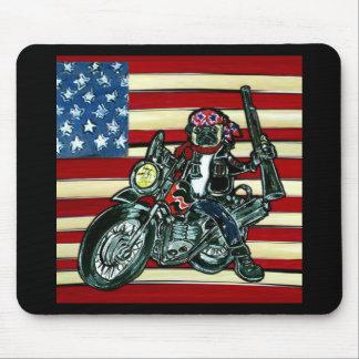 Biker Pug Mouse Pad