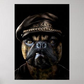 Biker Pug Poster