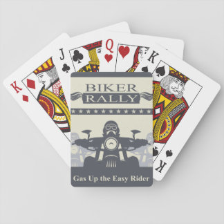 Biker Rally Easy Rider Playing Cards, Motorcycle Playing Cards