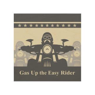 Biker Rally Easy Rider Wood Wall Art 8x8