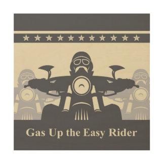 Biker Rally Easy Rider Wood Wall Art, Motorcycle Wood Print