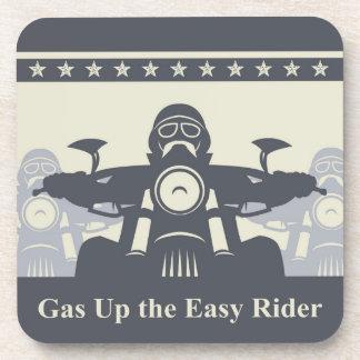 Biker Rally Plastic Coasters, Set of 6, Motorcycle Beverage Coaster
