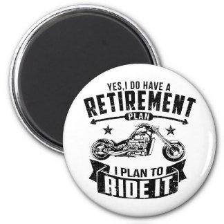 Biker Retirement Magnet