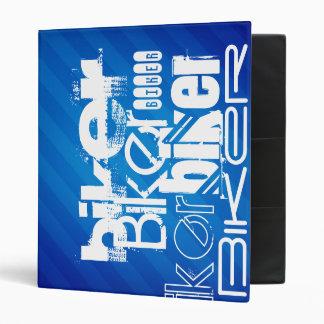 Biker; Royal Blue Stripes Vinyl Binder