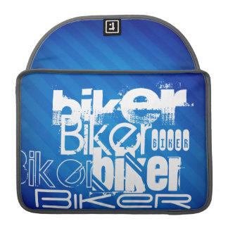 Biker; Royal Blue Stripes Sleeves For MacBooks