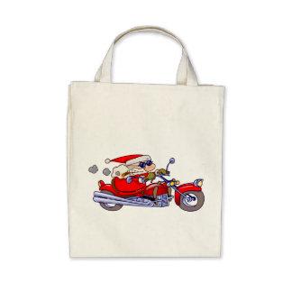 Biker Santa Canvas Bag
