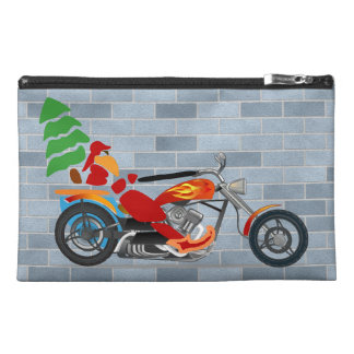 Biker Santa Travel Accessories Bag