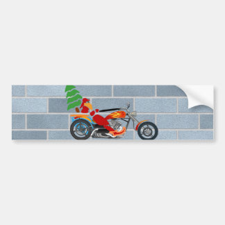 Biker Santa Car Bumper Sticker