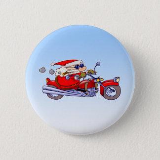 Biker Santa Button