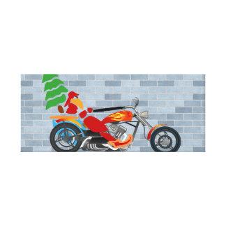 Biker Santa Gallery Wrapped Canvas