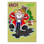BIKER SANTA GREETING CARD