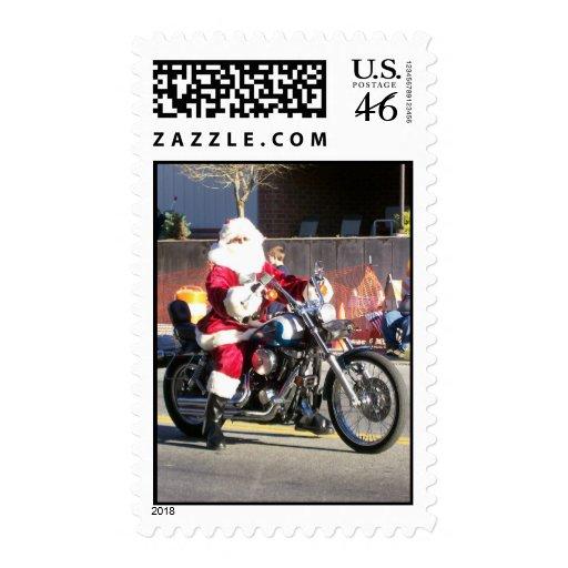 Biker Santa Postage